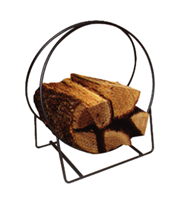 Tui Small Metal Hoop Wood Holder